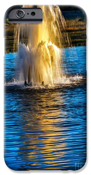 Pond Fountain iPhone Case by Robert Bales