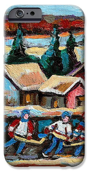 POND HOCKEY 2 iPhone Case by CAROLE SPANDAU