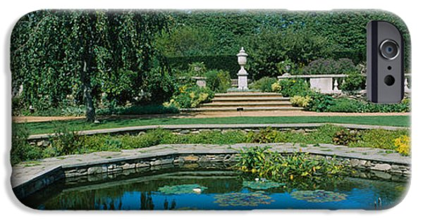 Botanical iPhone Cases - Pond In A Botanical Garden, English iPhone Case by Panoramic Images