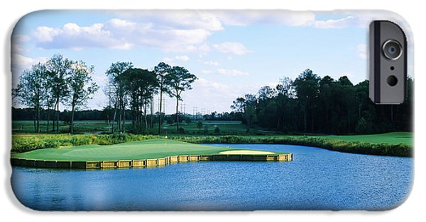Charlotte iPhone Cases - Pond In A Golf Course, Carolina Golf iPhone Case by Panoramic Images