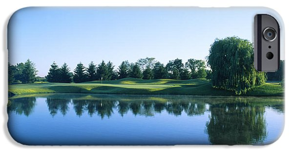Reflection Harvest iPhone Cases - Pond In A Golf Course, Rich Harvest iPhone Case by Panoramic Images