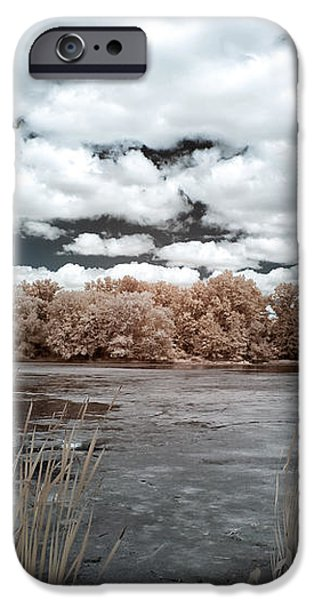 Pond in Autumn iPhone Case by John Rizzuto