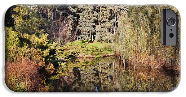 Willow Lake iPhone Cases - Pond in Skaryszewski Park iPhone Case by Artur Bogacki