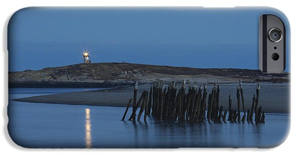 Maine Lighthouses iPhone Cases - Pond Island Lighthouse Kennebec River Maine Print iPhone Case by Keith Webber Jr