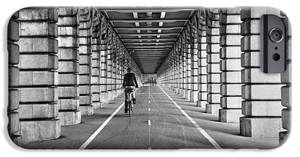 Symetry iPhone Cases - Pont de Bercy iPhone Case by Delphimages Photo Creations