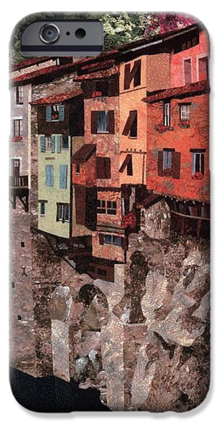 Pastel Tapestries - Textiles iPhone Cases - Pont en Royans iPhone Case by Lenore Crawford