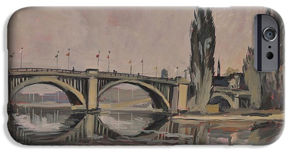 Vise iPhone Cases - Pont Ile Robinson Vise iPhone Case by Nop Briex