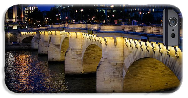 Seductive iPhone Cases - Pont Neuf Bridge - Paris - France iPhone Case by Georgia Mizuleva