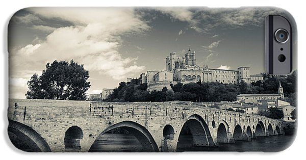 Languedoc iPhone Cases - Pont Vieux Bridge With Cathedrale iPhone Case by Panoramic Images