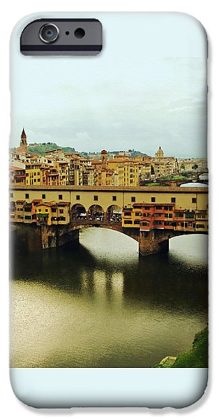 Boaters iPhone Cases - Ponte Vecchio 2 iPhone Case by Ellen Henneke