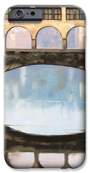 Ponte Vecchio a Firenze iPhone Case by Guido Borelli
