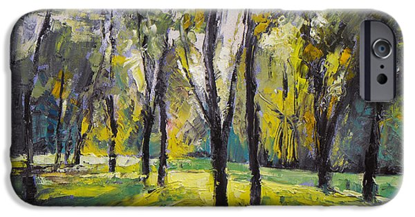Michael iPhone Cases - Pontefract Park at Sunset iPhone Case by Michael Creese