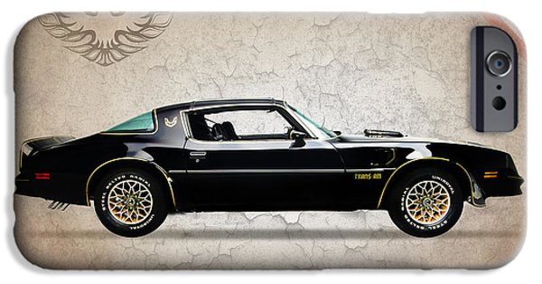 Muscle iPhone Cases - Pontiac Firebird iPhone Case by Mark Rogan