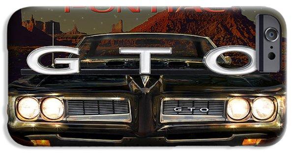 Ferrari 250 Gto iPhone Cases - Pontiac GTO iPhone Case by Doug Kreuger
