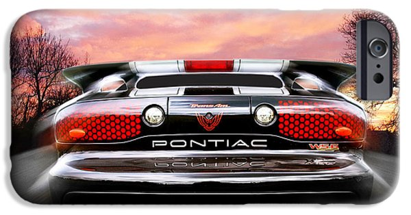 1990s iPhone Cases - Pontiac Trans Am Rear Lights iPhone Case by Gill Billington