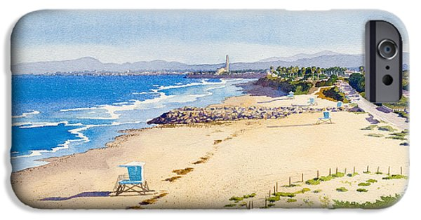 California Beach iPhone Cases - Ponto Beach Carlsbad California iPhone Case by Mary Helmreich