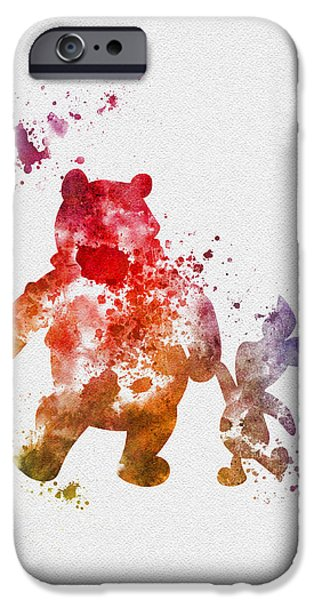 Animation iPhone Cases - Pooh Bear iPhone Case by Rebecca Jenkins