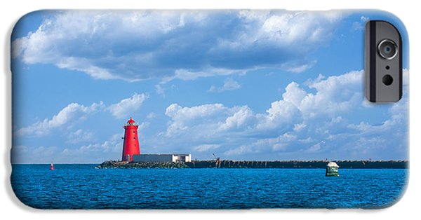 North Sea iPhone Cases - Poolbeg Lighthouse in Dublin Bay iPhone Case by Semmick Photo