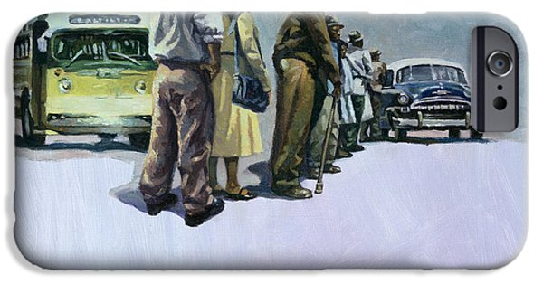 Discrimination Paintings iPhone Cases - Pools of Defiance iPhone Case by Colin Bootman