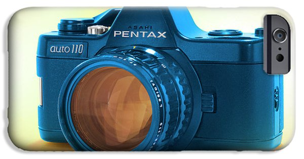 35mm iPhone Cases - Pop Art 110 Pentax iPhone Case by Mike McGlothlen