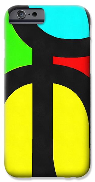 Op iPhone Cases - Pop Art Abstract 1 iPhone Case by Edward Fielding