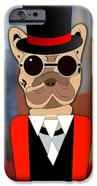 Dogs iPhone Cases - Pop Art French Bulldog iPhone Case by Marvin Blaine