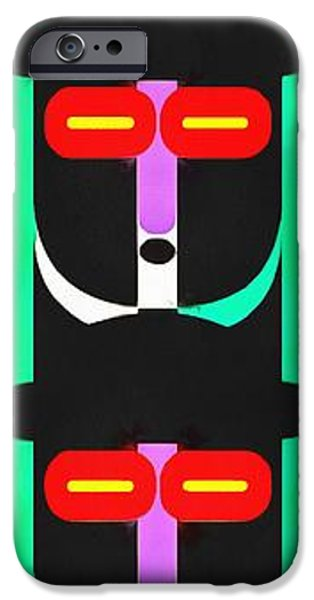 Totem iPhone Cases - Pop Art People Totem 4 iPhone Case by Edward Fielding
