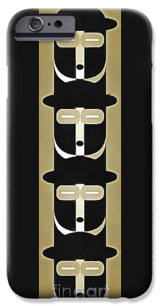 Pope iPhone Cases - Pop Art People Totem 5 iPhone Case by Edward Fielding
