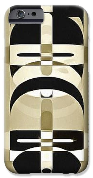 Totem iPhone Cases - Pop Art People Totem 6 iPhone Case by Edward Fielding