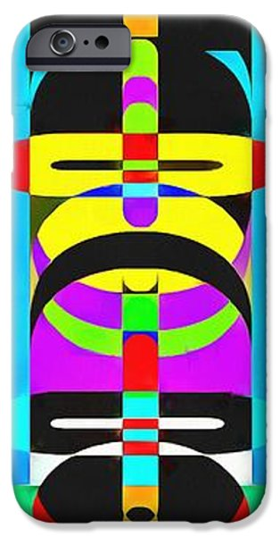 Totem iPhone Cases - Pop Art People Totem 7 iPhone Case by Edward Fielding