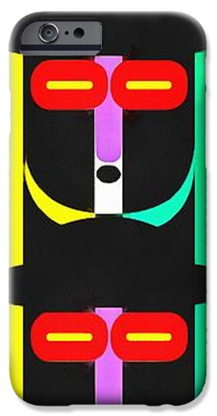 Totem iPhone Cases - Pop Art People Totem 8 iPhone Case by Edward Fielding
