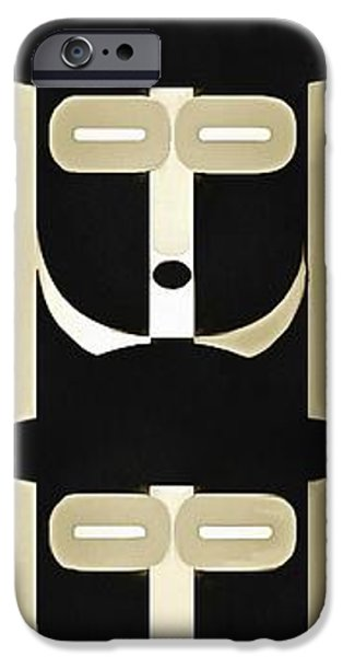 Totem iPhone Cases - Pop Art People Totem 9 iPhone Case by Edward Fielding