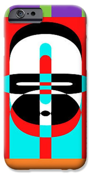 Op iPhone Cases - Pop Art People Totem iPhone Case by Edward Fielding