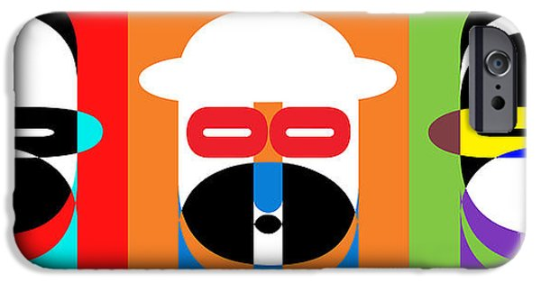 Op iPhone Cases - Pop Art People Trio iPhone Case by Edward Fielding