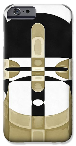 Totem iPhone Cases - Pop Art Person 1 iPhone Case by Edward Fielding