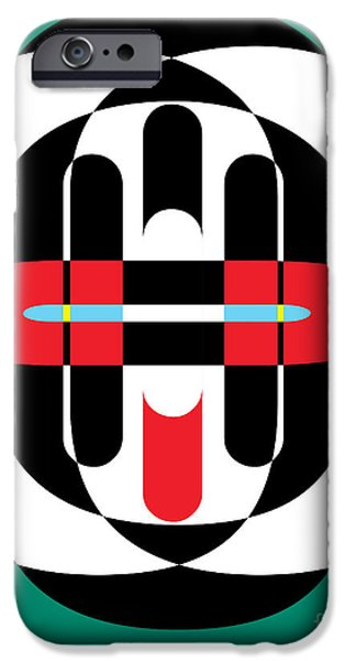 Op iPhone Cases - Pop Art Person 2 iPhone Case by Edward Fielding