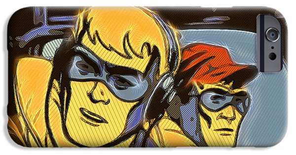 Animation iPhone Cases - Pop Art Pilots iPhone Case by Russell Pierce