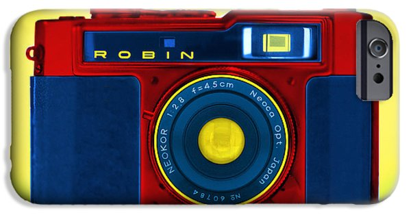 35mm iPhone Cases - PoP aRt RoBiN iPhone Case by Mike McGlothlen