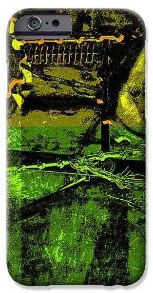 Pop Art Style Machine Gears iPhone Case by Ann Powell