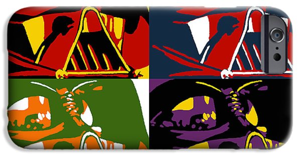 Film Paintings iPhone Cases - Pop Art Vader iPhone Case by Dale Loos Jr