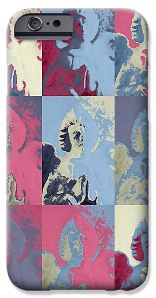 Innocence Mixed Media iPhone Cases - Popart an angel iPhone Case by Toppart Sweden