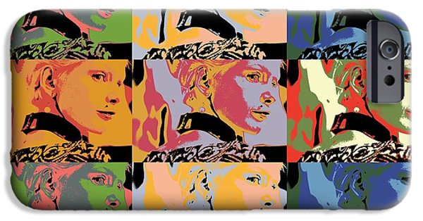 Concept Mixed Media iPhone Cases - Popart fashion girl iPhone Case by Toppart Sweden