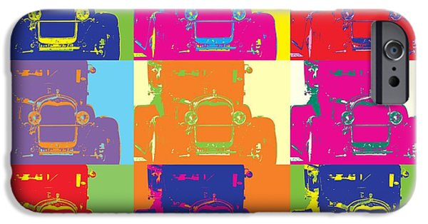 Concept Mixed Media iPhone Cases - Popart ford iPhone Case by Toppart Sweden