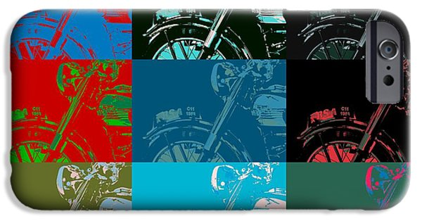 Concept Mixed Media iPhone Cases - Popart Motorbike iPhone Case by Toppart Sweden
