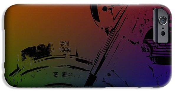 Concept Mixed Media iPhone Cases - Popart old MC iPhone Case by Toppart Sweden