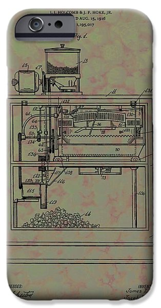 Film Maker iPhone Cases - Popcorn Machine Patent iPhone Case by Dan Sproul