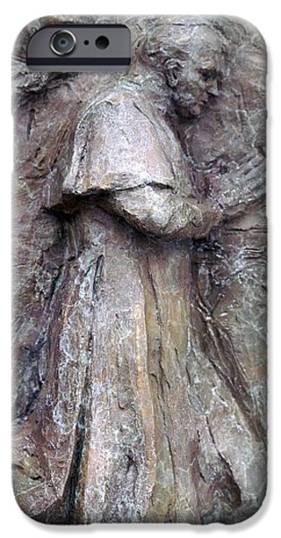 Pope Sculptures iPhone Cases - Pope John Paul II iPhone Case by Karen Swenholt