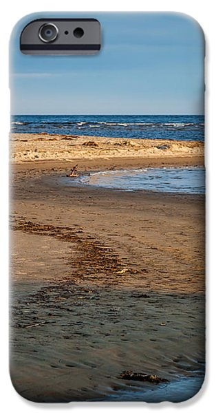 Popham Beach Curve iPhone Case by Susan Cole Kelly