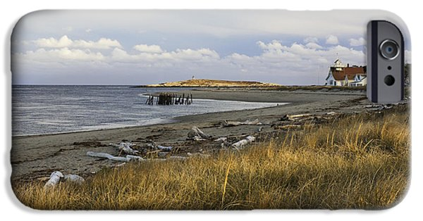 Maine iPhone Cases - Popham Beach on the Maine Coast iPhone Case by Keith Webber Jr