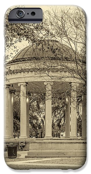 Bandstand iPhone Cases - Popp Bandstand sepia iPhone Case by Steve Harrington